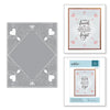 Spellbinders Diamond Lace Frame Cut and Emboss Folder