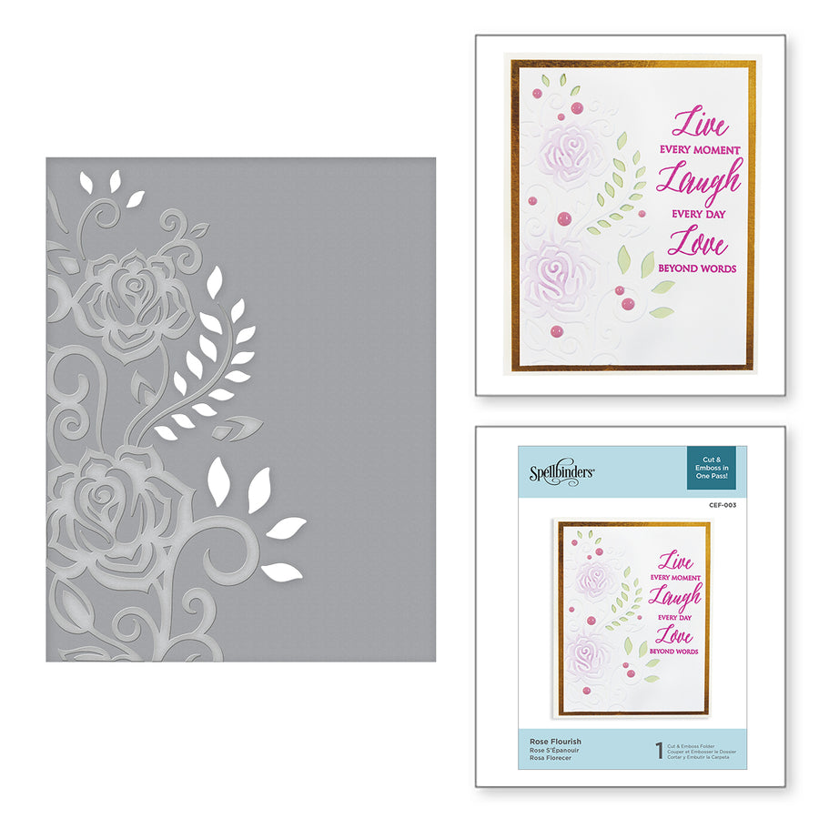 Spellbinders Rose Flourish Cut and Emboss Folder