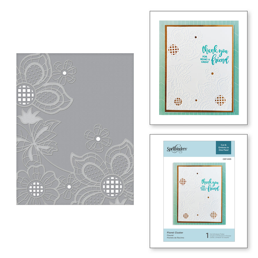 Spellbinders Floret Cluster Cut and Emboss Folder