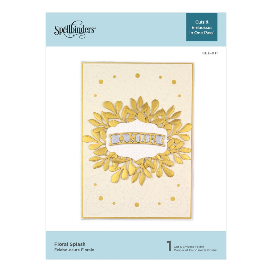 Spellbinders Cut & Emboss Folder - Floral Splash - CEF-011