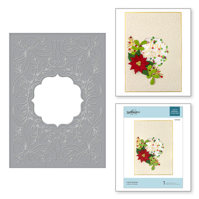Spellbinders - Laurel & Bows Cut and Emboss Folder Holiday 2019 Collection  - CEF-012