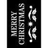 Creative Expressions Mini Stencil - Merry Christmas