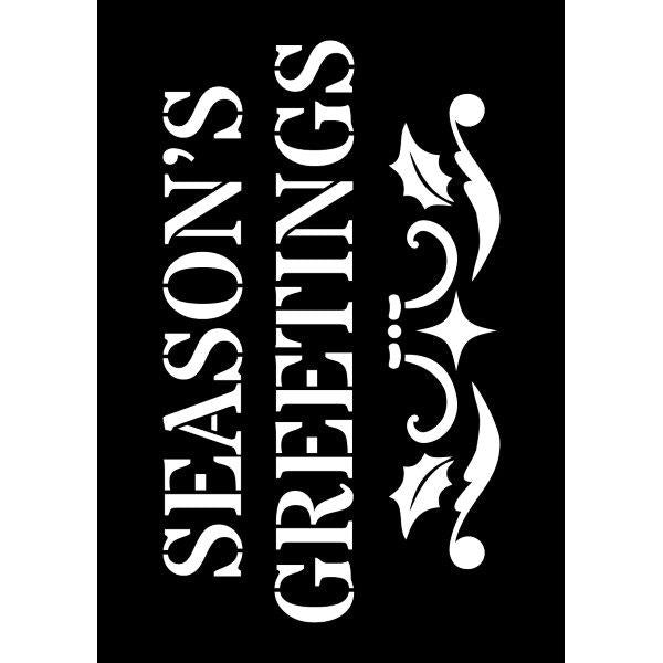 Creative Expressions Mini Stencil - Seasons Greetings