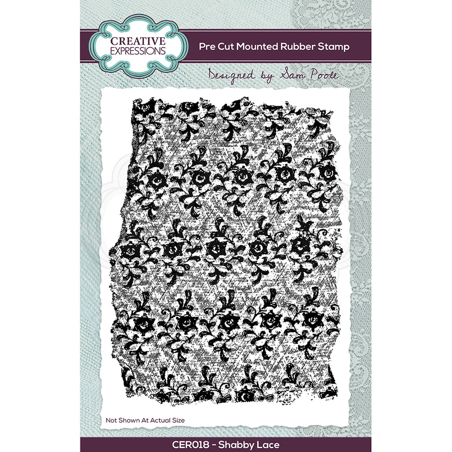 Creative Expressions Stamp - Sam Poole - Shabby Lace