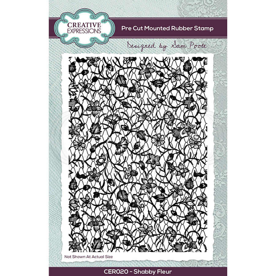 Creative Expressions Stamp - Sam Poole - Shabby Fleur