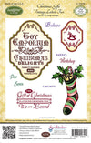 JustRite Cling Stamps - Christmas Gifts Vintage Labels Two (CL-04640)