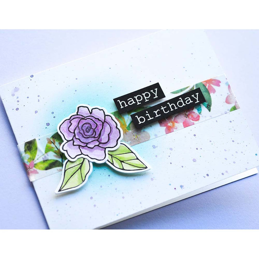 Memory Box Stamp Set - Birthday Rose Corner - CL5251