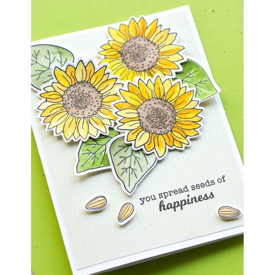 Memory Box Stamp Set - Sunflower Wreath - CL5253