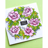 Memory Box Clear Stamp Set - Peony Garden Wreath - CL5257