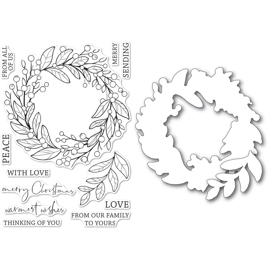 Memory Box Stamp Set - Berry Wreath Clear Stamp & Die Set - CL5260-D