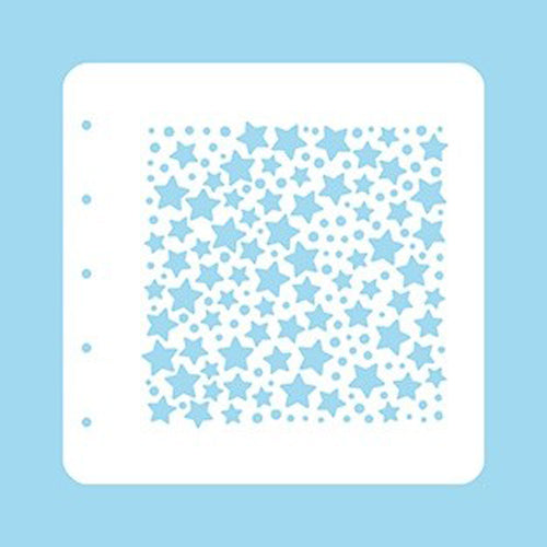 Nellie Snellen Stencil - A6 - Christmas Time - Stars and Dots