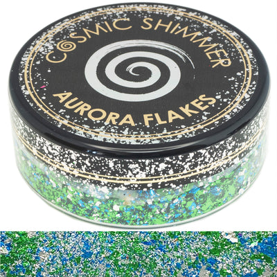 Cosmic Shimmer Aurora Flakes - Icy Lagoon - 50ml