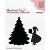 Nellie Snellen Clear Stamp - Christmas Silhouette - Thank You Santa