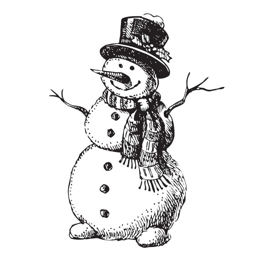 Two Jays Clear Stamp - Cheery Snowman - CTJJ103