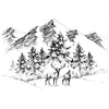 Two Jays Clear Stamp - Deer Mountain - CTJJ107