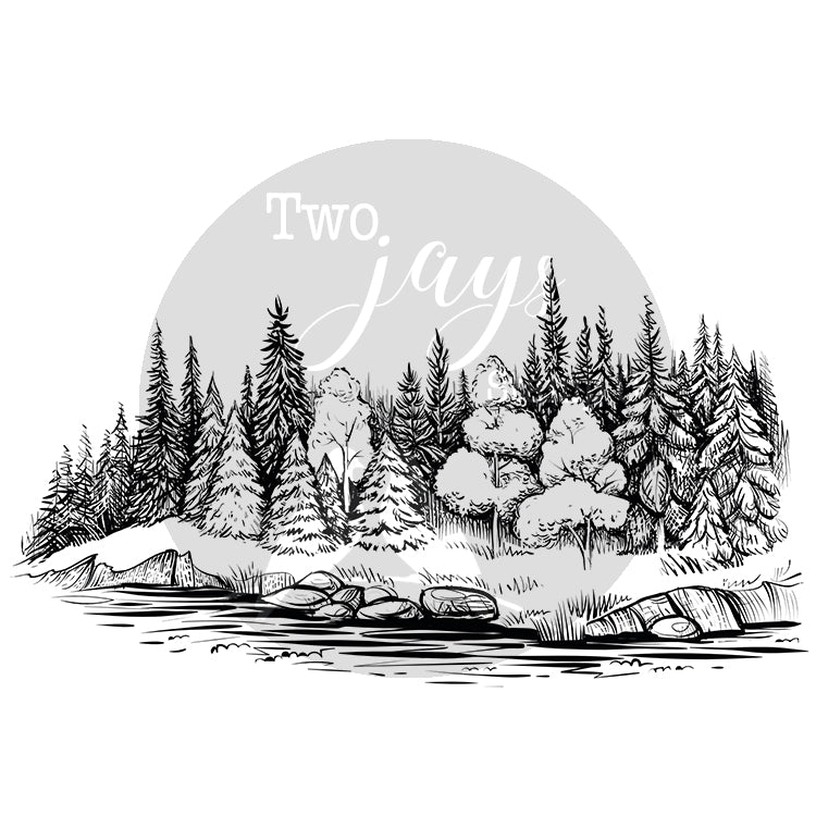 Two Jays Clear Stamp - Tree Line - CTJJ120