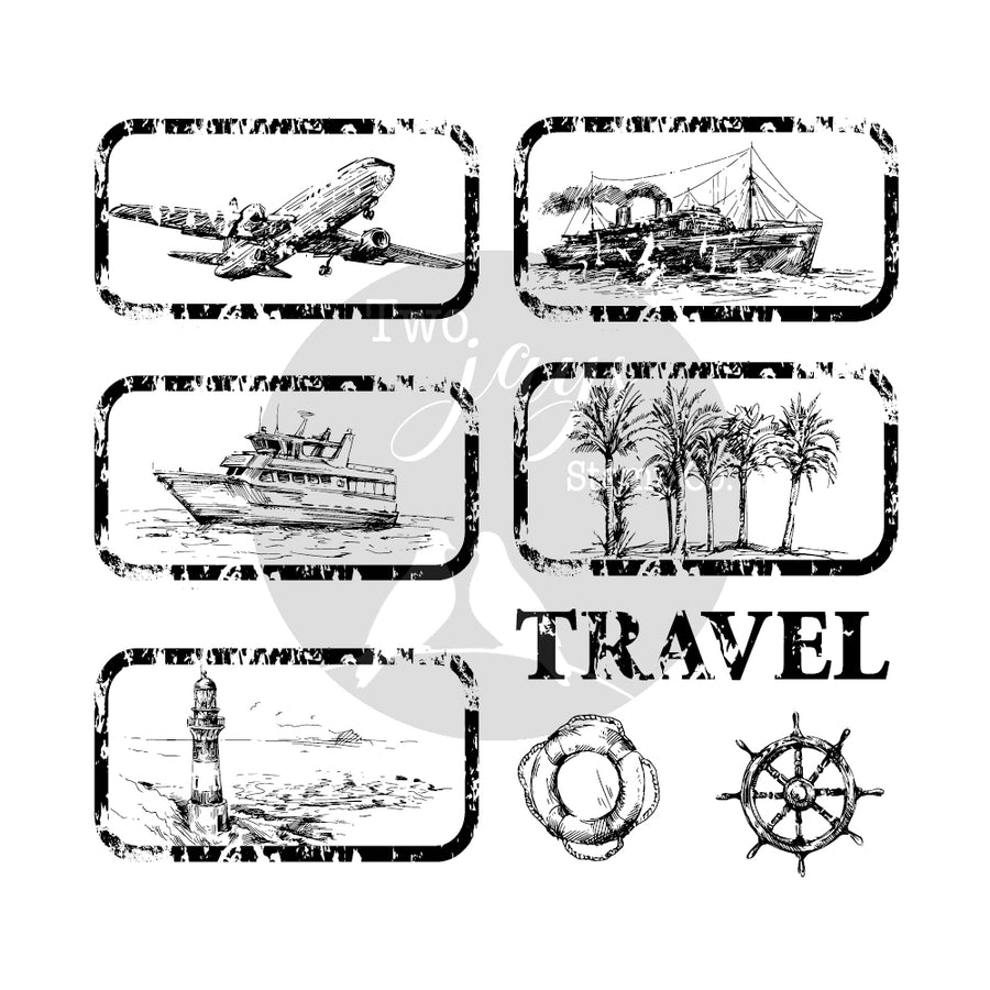 Two Jays Vintage Travel Stamps - Travel Tags - CTJJ130