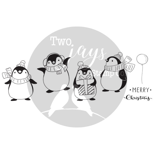 Two Jays Christmas Stamps - Penguins - CTJJ144