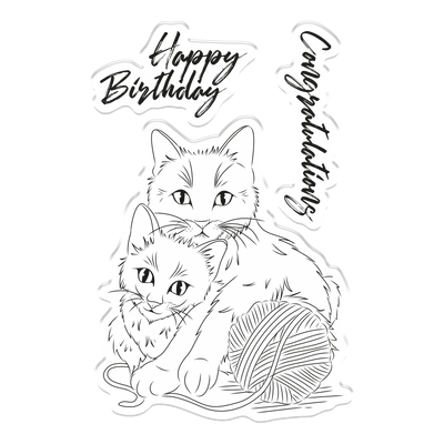Crafters Companion - Photopolymer Stamp - Cattitude
