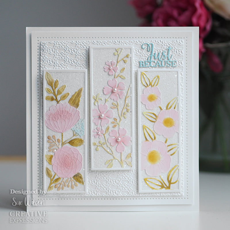 Sue Wilson Dies by Creative Expressions - Floral Panels - Dogwood - CED2050