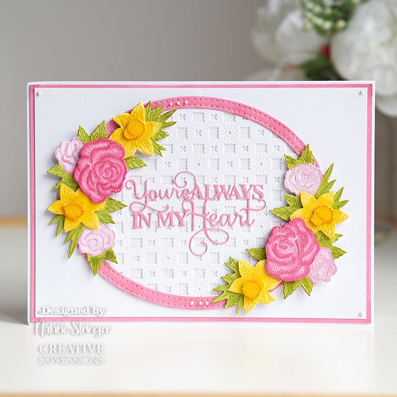 Sue Wilson Dies by Creative Expressions - StampCuts - Spring Roses & Daffodils - CEDSC006