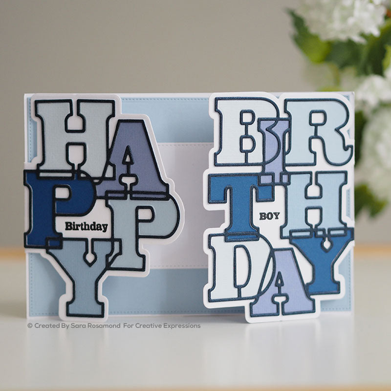 Sue Wilson Stamp & Dies by Creative Expressions - Big Bold Words - Birthday - CEDSD007