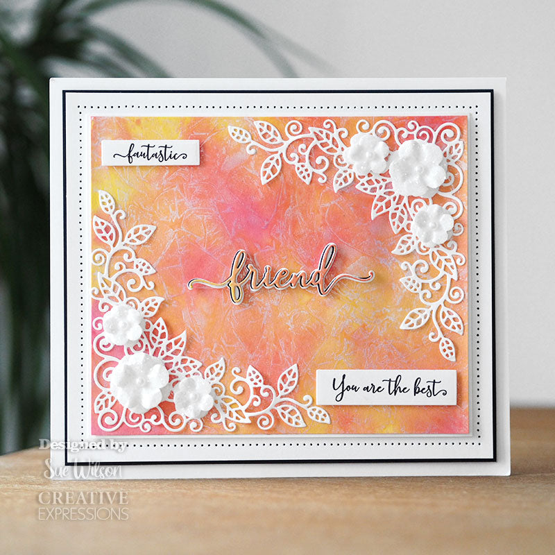 Sue Wilson Stamp & Die by Creative Expressions - Bold Shadowed Sentiments - Friend - CEDSD011