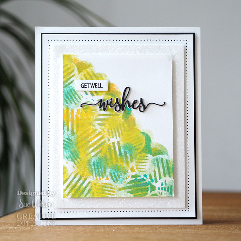 Sue Wilson Stamp & Die by Creative Expressions - Bold Shadowed Sentiments - Wishes - CEDSD014