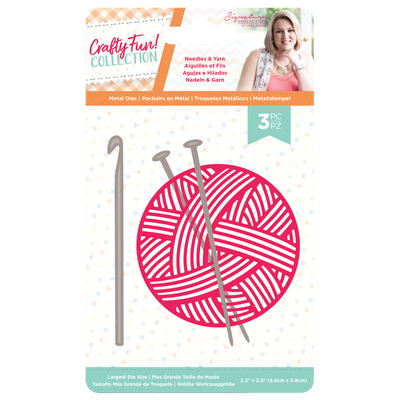 Sara Signature Collection by Crafters Companion - Crafty Fun - Metal Die - Needles & Yarn