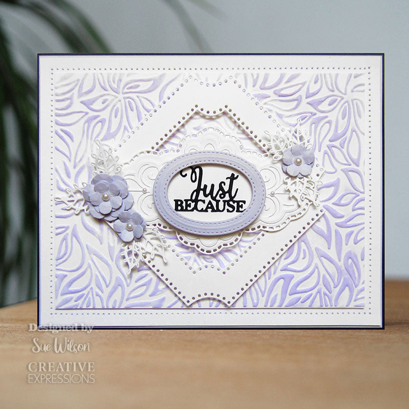 Sue Wilson 3D Embossing Folder by Creative Expressions - Floral Daydream - EF3D-046