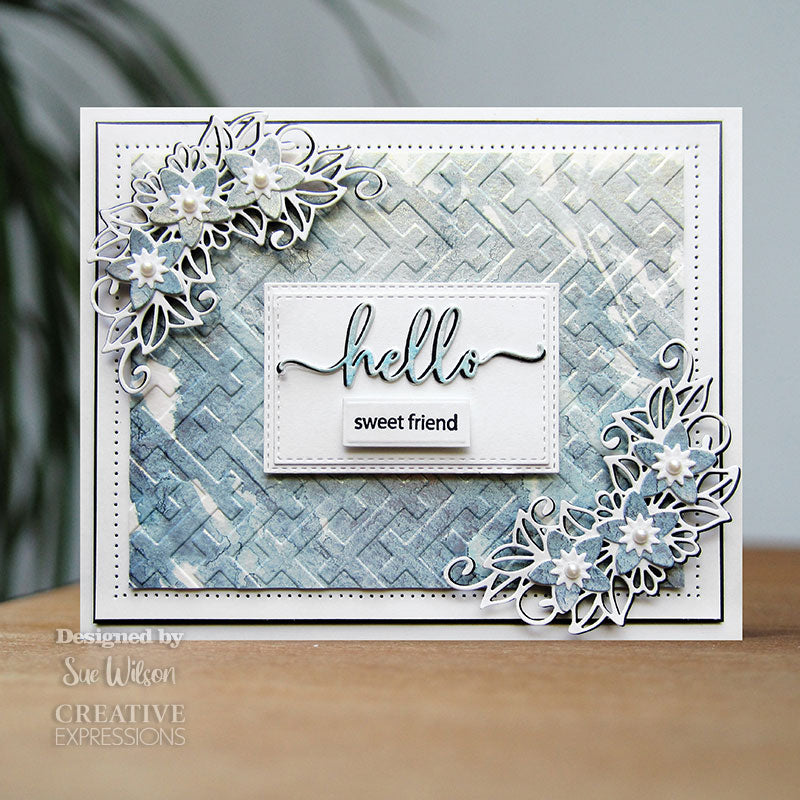 Sue Wilson 3D Embossing Folder by Creative Expressions - Twill Weave - EF3D-049