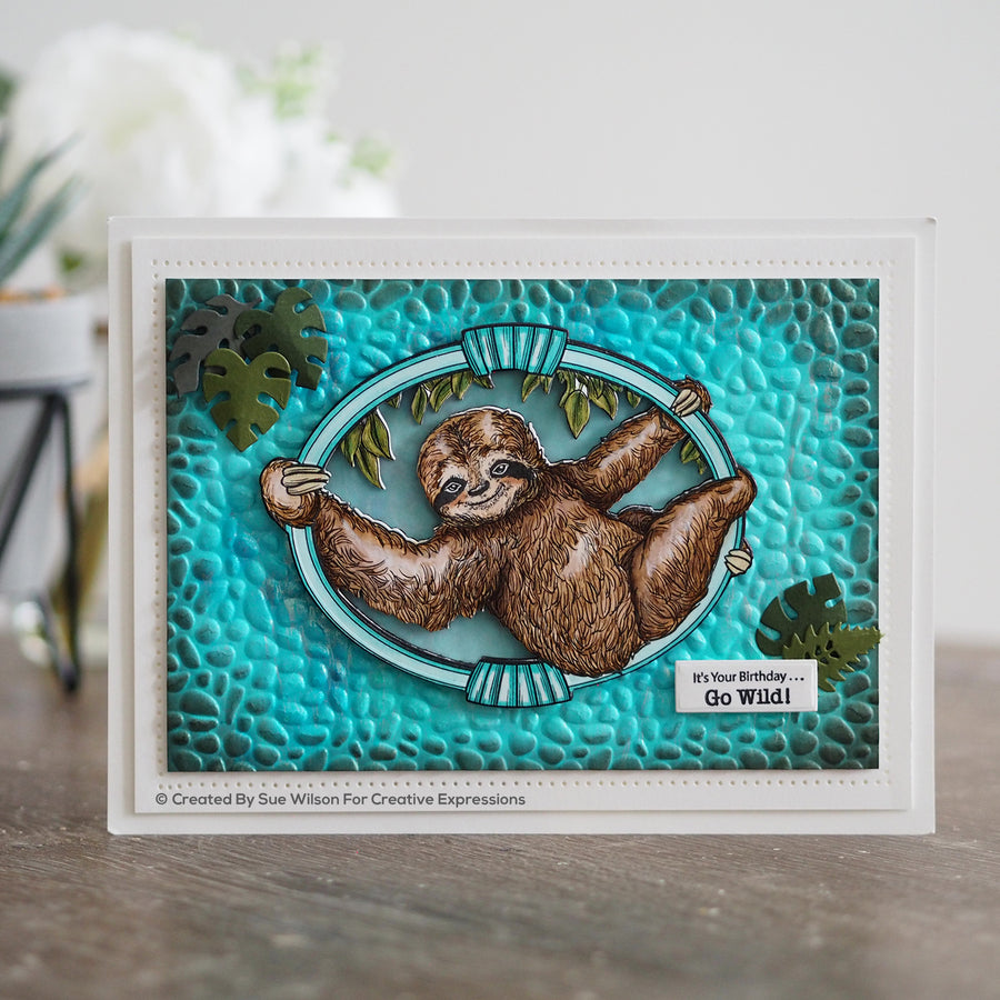 Sue Wilson Dies by Creative Expressions - Safari Collection - Sloth - CED1313