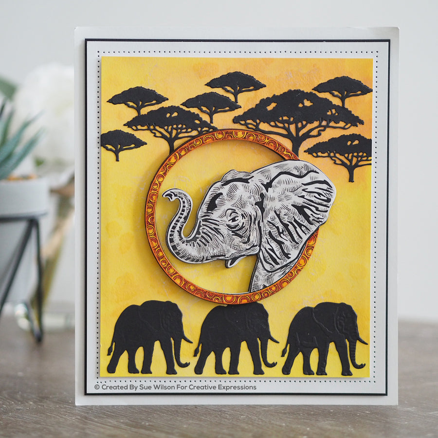 Creative Expressions A5 Clear Stamp Set - Elephant - UMS903