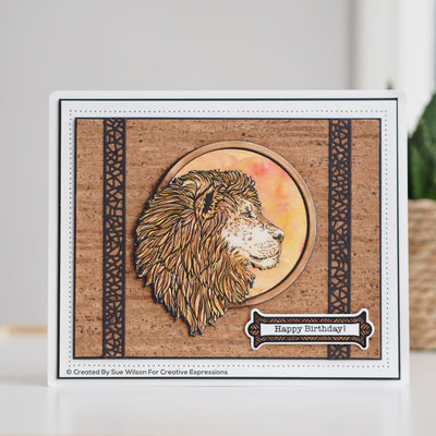 Sue Wilson Dies by Creative Expressions - Safari Collection - Lion - CED1312