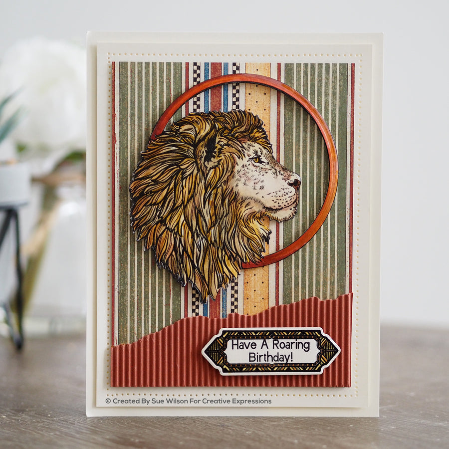 Creative Expressions A5 Clear Stamp Set - Lion  - UMS901