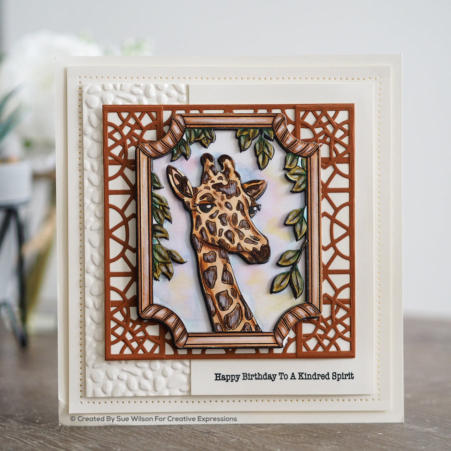 Creative Expressions A5 Clear Stamp Set - Giraffe - UMS906