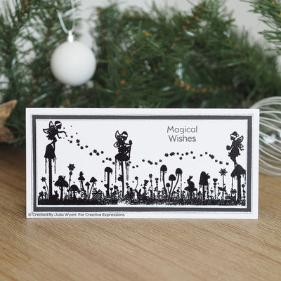 Creative Expressions Stamp - Designer Boutique Collection - Festive Wishes DL Clear Stamp