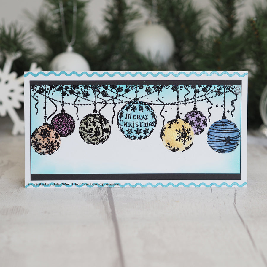 Creative Expressions Stamp - Designer Boutique Collection - Bauble Garland