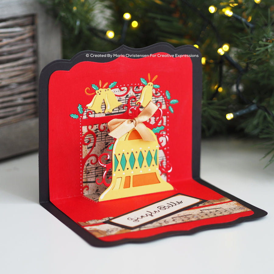 Paper Cuts Festive Pop Up Die - Bells Are Ringing - CEDPC1133