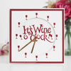 Paper Cuts Edger Die - Wine O'Clock - CEDPC1145