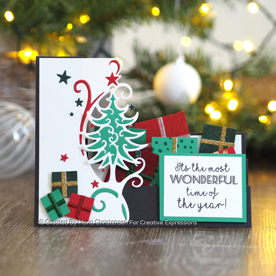 Paper Cuts Festive Edger Die - O Christmas Tree - CEDPC1127
