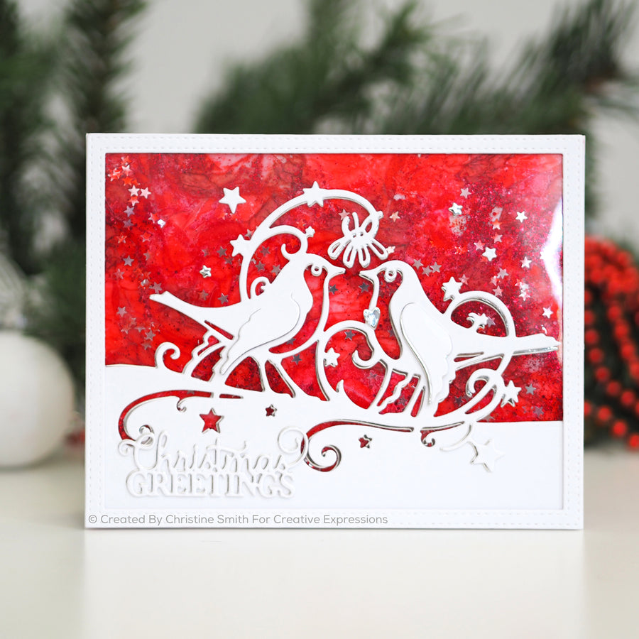 Paper Cuts Festive Edger Die - Under the Mistletoe - CEDPC1125