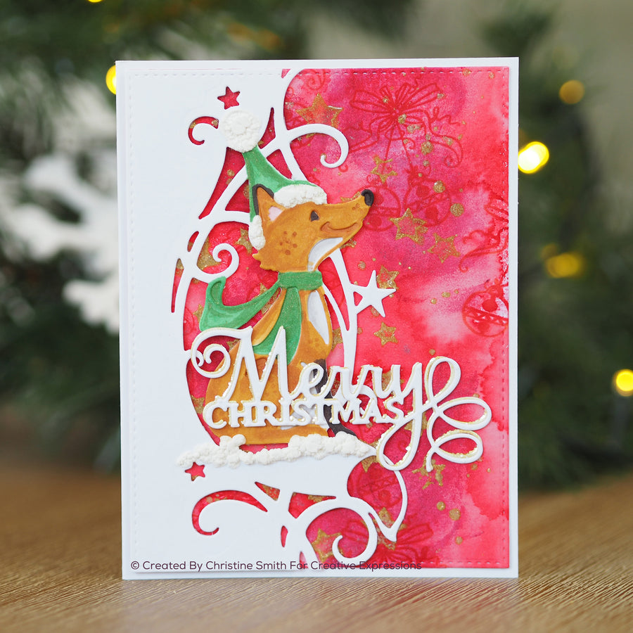 Paper Cuts Festive Edger Die - Winter Fox - CEDPC1128