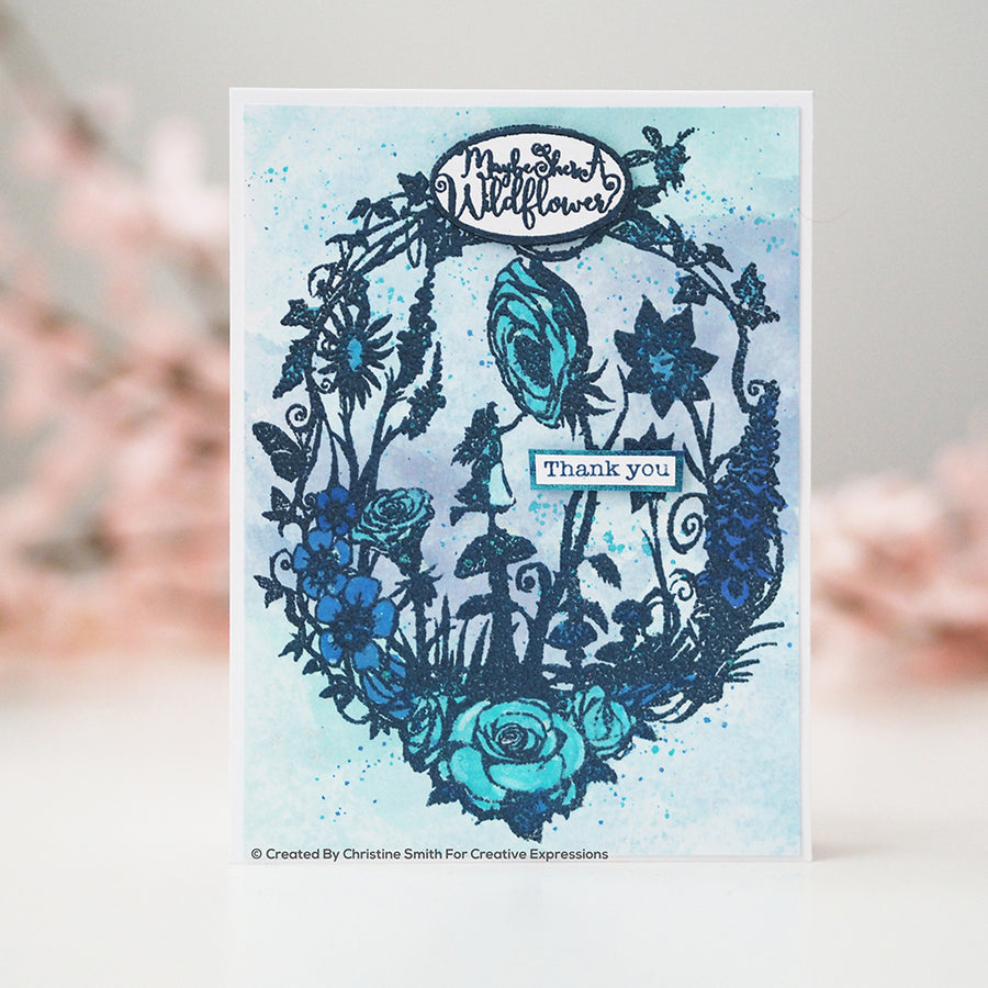 Paper Panda Stamps by Creative Expressions - Wildflower - CERPP005
