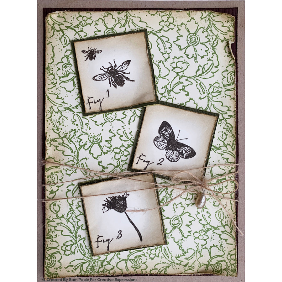 Creative Expressions Rubber Stamp - Sam Poole - Wildflowers