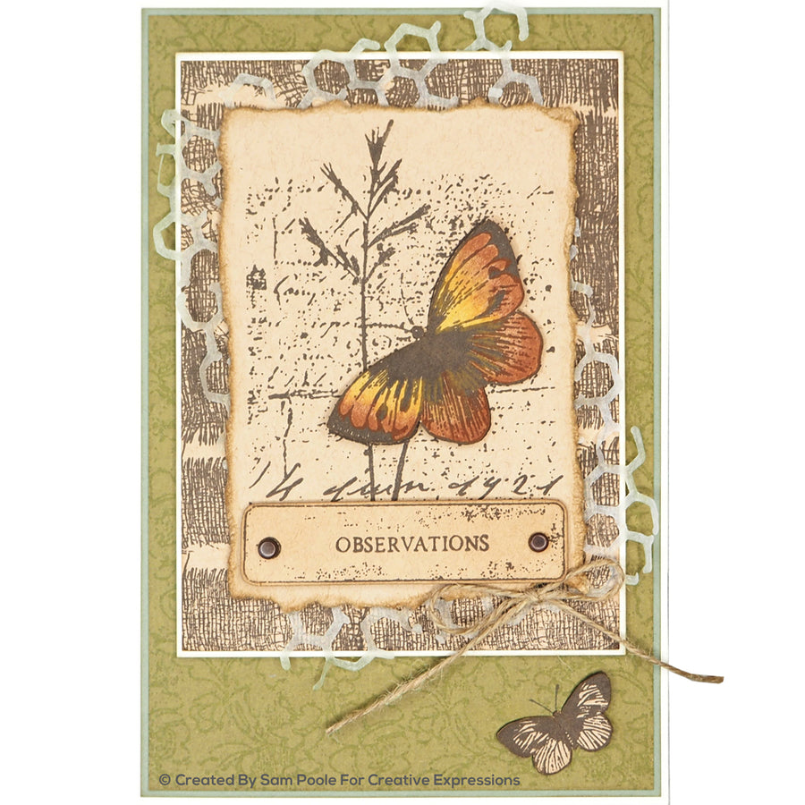 Creative Expressions Die - Sam Poole - Shabby Basics Rustic Honeycomb Craft Die