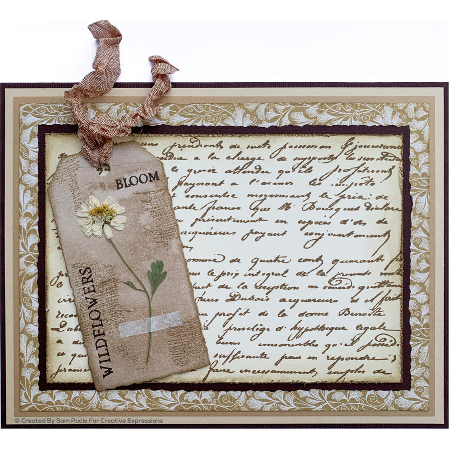 Creative Expressions Die - Sam Poole - Shabby Basics Tattered Tags Craft Die