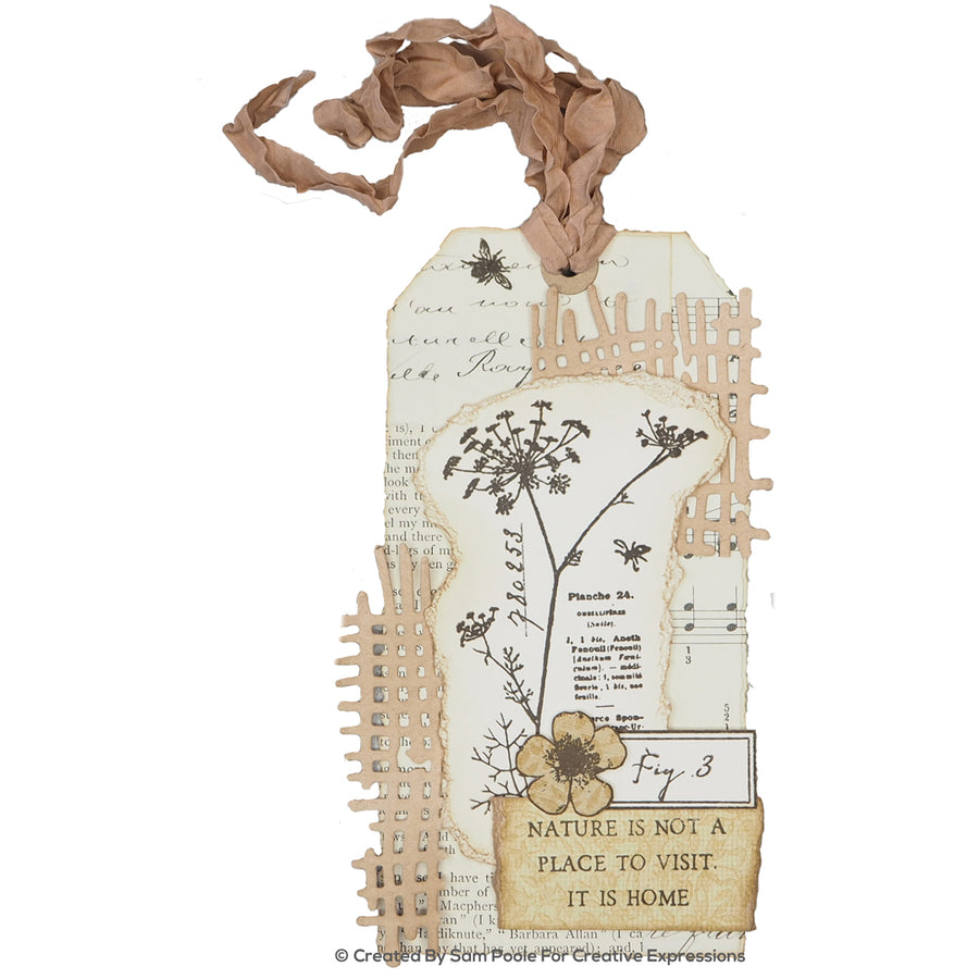 Creative Expressions Die - Sam Poole - Shabby Basics Cheesecloth Craft Die