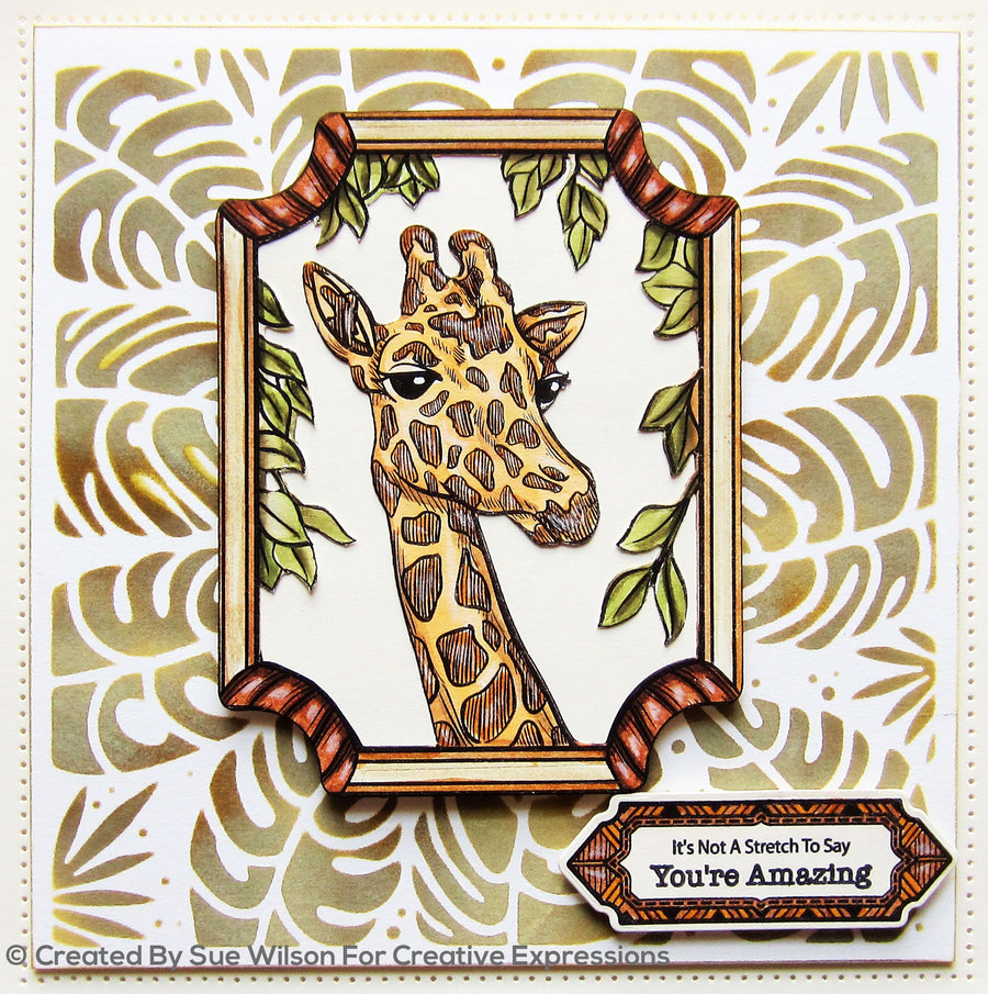 "Sue Wilson 7""x 7"" Stencils by Creative Expressions - Tropical Leaves - CEST042"