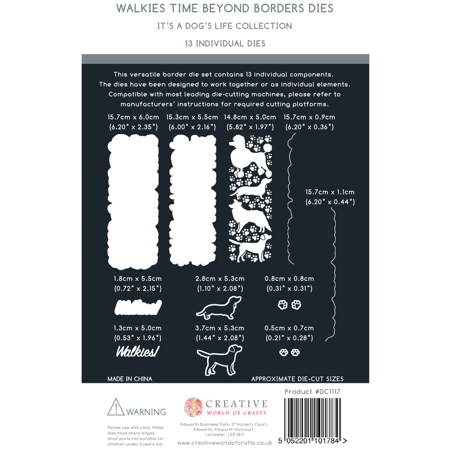 The Paper Boutique - Border Die - Walkies Time - PBDC1117